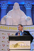 Philadelphia Independence General Manager and Head Coach Matt Driver during the signing ceremony for the WPS Philadelphia Independence at the Franklin Institute in Philadelphia, PA, on May 18, 2009.