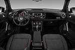 Stock photo of straight dashboard view of 2016 Volkswagen Beetle 1.8T-S-Auto-PZEV 3 Door Hatchback Dashboard