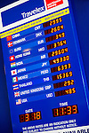 Currence exchange board Travelex at Toronto Pearson international airport