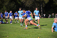 Action from the Transit Coachlines 1st XV Festival rugby union match between St Patrick's College Town College and Napier Boys' High School at Rathkeale College in Masterton, New Zealand on Saturday, 4 May 2019. Photo: Dave Lintott / lintottphoto.co.nz