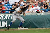 UCLA's Justin Uribe against Florida in Game 2 of the NCAA Division One Men's College World Series on Saturday June 19th, 2010 at Johnny Rosenblatt Stadium in Omaha, Nebraska.  (Photo by Andrew Woolley / Four Seam Images)