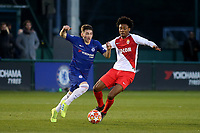 Billy Gilmour of Chelsea in action during Chelsea Under-19 vs AS Monaco Under-19, UEFA Youth League Football at the Cobham Training Ground on 19th February 2019