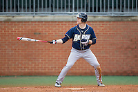 Joey Havrilak (19) of the Akron Zips at bat against the Charlotte 49ers at Hayes Stadium on February 22, 2015 in Charlotte, North Carolina.  The Zips defeated the 49ers 5-4.  (Brian Westerholt/Four Seam Images)