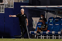 22nd June 2020; Estadio Municipal de Butarque, Madrid, Spain; La Liga Football, Club Deportivo Leganes versus Granada; Javier Aguirre Coach of CD Leganes sends in instructions to his players