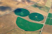 Runde Felder nach Bewaesserung: EUROPA, SPANIEN, 09.07.2018: Runde Felder nach Bewaesserung, Landschafts Smiley