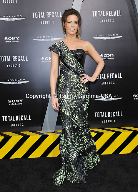 Kate Beckinsale at the Total Recall Premiere at the Chinese Theatre In Los Angeles.