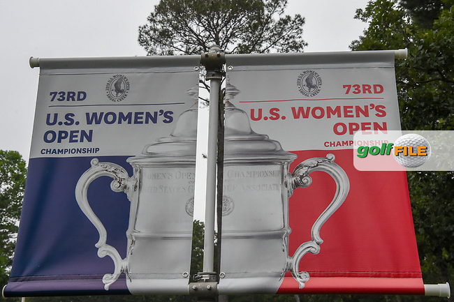 The 73rd U.S. Women's Open Championship signage near the driving range during round 1 of the U.S. Women's Open Championship, Shoal Creek Country Club, at Birmingham, Alabama, USA. 5/31/2018.<br /> Picture: Golffile | Ken Murray<br /> <br /> All photo usage must carry mandatory copyright credit (© Golffile | Ken Murray)