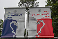 The 73rd U.S. Women's Open Championship signage near the driving range during round 1 of the U.S. Women's Open Championship, Shoal Creek Country Club, at Birmingham, Alabama, USA. 5/31/2018.<br /> Picture: Golffile | Ken Murray<br /> <br /> All photo usage must carry mandatory copyright credit (&copy; Golffile | Ken Murray)
