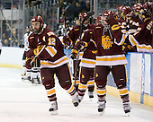 Jack Connolly (Duluth - 12), J.T. Brown (Duluth - 23) - The University of Minnesota-Duluth Bulldogs defeated the Union College Dutchmen 2-0 in their NCAA East Regional Semi-Final on Friday, March 25, 2011, at Webster Bank Arena at Harbor Yard in Bridgeport, Connecticut.