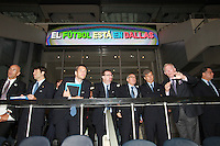 Arlington, TX: Dallas Cowboy Stadium September  9, 2010. FIAF delegation tours the Dallas Cowboy Stadium Center in Dallas Texas. L-R Clark Hunt, Sunil Gulati, Danny Jordaan, Harold Mayne-Nicholls.©2010 Rick Yeatts