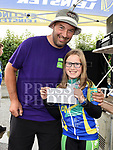 Drogheda Wheelers rider Joanne Connor was third girl home in the under 12 race in the Brendan Campbell Memorial Races 2018 at Donore pictured here with her dad Anthony. Photo:Colin Bell/pressphotos.ie