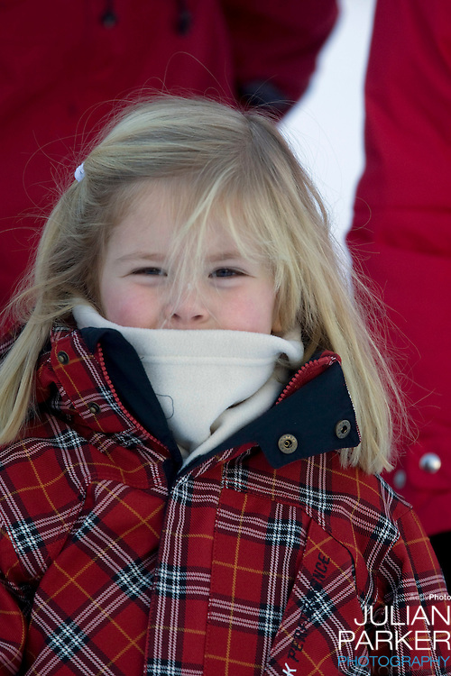 Princess Catharina Amalia of Holland attends a Photocall with Members of The Dutch Royal Family during their Winter Ski Holiday in Lech Austria