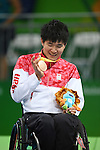 Masayuki Haga (JPN), <br /> SEPTEMBER 18, 2016 - WheelChair Rugby : <br /> Medal Ceremony <br /> at Carioca Arena 1<br /> during the Rio 2016 Paralympic Games in Rio de Janeiro, Brazil.<br /> (Photo by AFLO SPORT)