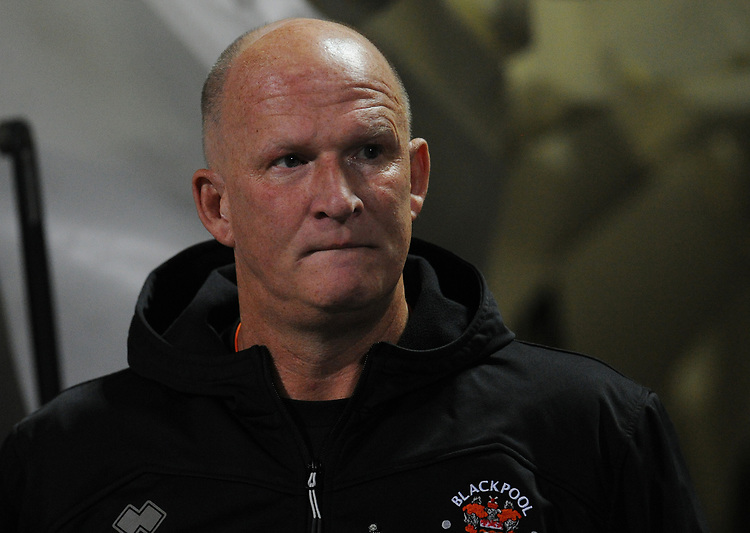 Blackpool manager Simon Grayson <br /> <br /> Photographer Kevin Barnes/CameraSport<br /> <br /> The EFL Sky Bet League One - Bolton Wanderers v Blackpool - Monday 7th October 2019 - University of Bolton Stadium - Bolton<br /> <br /> World Copyright © 2019 CameraSport. All rights reserved. 43 Linden Ave. Countesthorpe. Leicester. England. LE8 5PG - Tel: +44 (0) 116 277 4147 - admin@camerasport.com - www.camerasport.com