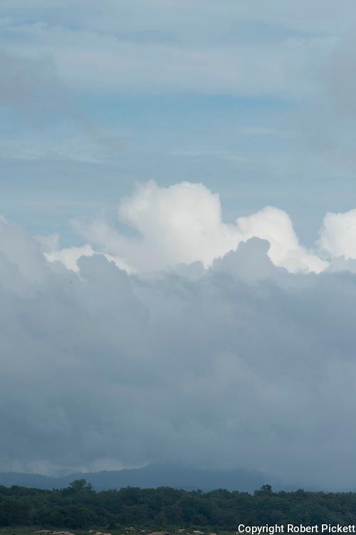 Lanscape with cloudy sky, Senanayake Samudraya, Sri Lanka