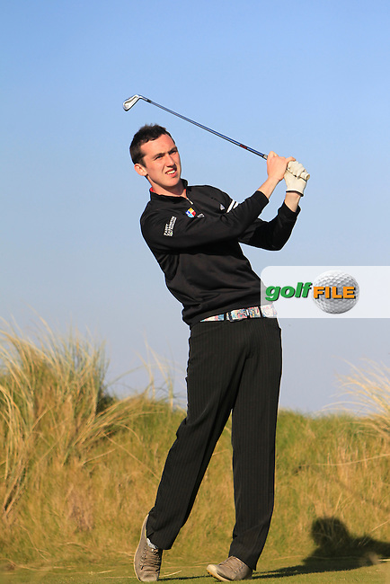 Colin Woodfoofe (Blainroe) during Round 1 of the 54 hole Stroke Play on April 8th 2015 for the 2015 Munster Youths' Open Championship, Tralee Golf Club, Tralee, Co.Kerry Ireland.<br /> Picture: Thos Caffrey / Golffile