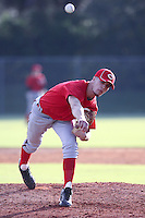 Zach Brenner of Case High School, Wisconsin playing for the Reds Midwest Scout during the WWBA World Champsionship 2012 at the Roger Dean Complex on October 27, 2012 in Jupiter, Florida. (Stacy Jo Grant/Four Seam Images).