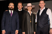 LAS VEGAS, NV - March 13, 2018: ***HOUSE COVERAGE***  Serik Kushenov, Peter Katsis, Perry Farrel, Ed Jones pictured as Lollapalooza Creator Perry Farrell, Cary Granat and Ed Jones of Immersive Artistry and Caesars Entertainment join forces for Kind Heaven and Unveil plans to the media at The Line Vortex in Las Vegas on March 13, 2018. . Credit: GDP Photos/ MediaPunch