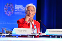 Washington, DC - April 11, 2019: IMF Managing Director Christine Lagarde listens to a question from the media during a press conference at the IMF/World Bank Spring Meetings in Washington, D.C., April 11, 2019.  (Photo by Don Baxter/Media Images International)