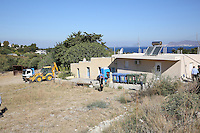 Pictured: The house where Ben Needham disappeared from in Kos, Greece.<br /> Re: Police teams searching for missing toddler Ben Needham on the Greek island of Kos have said they are &quot;optimistic&quot; about new excavation work.<br /> Ben, from Sheffield, was 21 months old when he disappeared on 24 July 1991 during a family holiday.<br /> Digging has begun at a new site after a fresh line of inquiry suggested he could have been crushed by a digger.<br /> South Yorkshire Police (SYP) said it continued to keep an &quot;open mind&quot; about what happened to Ben.
