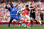 Hector Bellerin of Arsenal and Everton's Idrissa Gueye during the English Premier League match at the White Hart Lane Stadium, London. Picture date: May 21st 2017.Pic credit should read: Charlie Forgham-Bailey/Sportimage