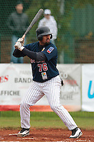 17 October 2010: Keino Perez of Rouen is seen at bat during Rouen 10-5 win over Savigny, during game 2 of the French championship finals, in Savigny sur Orge, France.