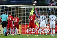 Jakub Wrabel of Poland pushes a cross from James Ward-Prowse over the bar during England Under-21 vs Poland Under-21, UEFA European Under-21 Championship Football at The Kolporter Arena on 22nd June 2017