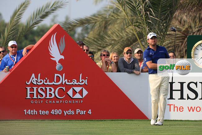Graeme McDowell teeing off on the 14th on day 3 of the Abu Dhabi HSBC Golf Championship 2011, at the Abu Dhabi golf club, UAE. 22/1/11..Picture Fran Caffrey/www.golffile.ie.