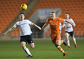 04/12/2018 FA Youth Cup 3rd Round Blackpool v Derby County<br /> <br /> Owen Watkinson closes down