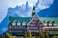 The Prince of Wales Hotel in Waterton National Park in Alberta Canada