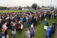 Fans on the outfield after Essex clinch victory during Essex CCC vs Yorkshire CCC, Specsavers County Championship Division 1 Cricket at The Cloudfm County Ground on 27th September 2017