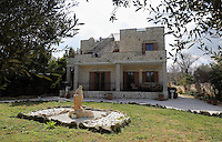 Pictured: The Hattons' house Wednesday 15 February 2017<br /> Re: John and Heather Hatton, expat couple in Greece who are unable to sell their house in the village of Vamos, Chania, Crete to return to the UK because their neighbour won't pay his taxes.<br /> Heather Hatton needs to return to the UK for urgent medical care.