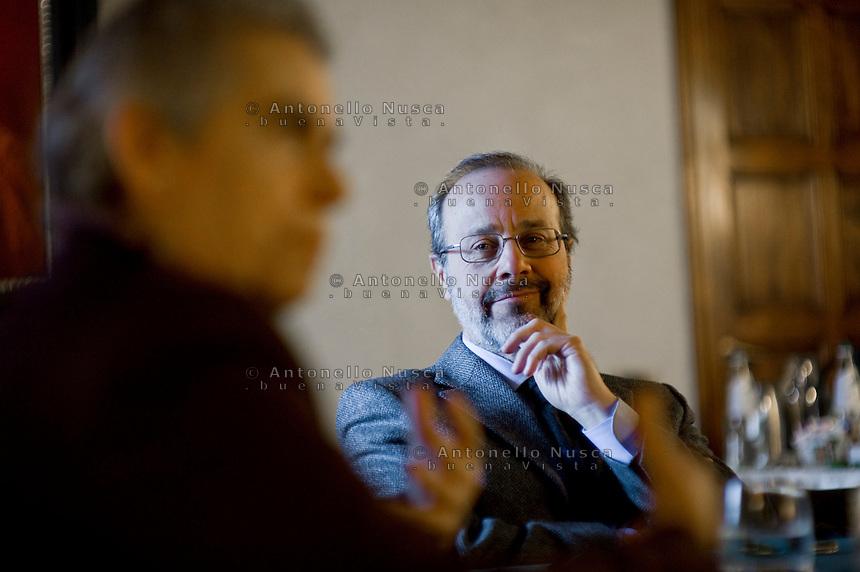 Giovanni Maria Vian Direttore dell'Osservatore Romano, il quotidiano delVaticano.