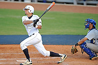 5 May 2012:  FIU catcher Aramis Garcia (44) hits a solo home run in the fifth inning as the FIU Golden Panthers defeated the Middle Tennessee State University Blue Raiders, 12-6, at University Park Stadium in Miami, Florida.