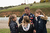 14th April 2018, Circuit de Barcelona-Catalunya, Barcelona, Spain; FIA World Rallycross Championship; Sebastien Loeb  9 at the Starting Grid with his sons