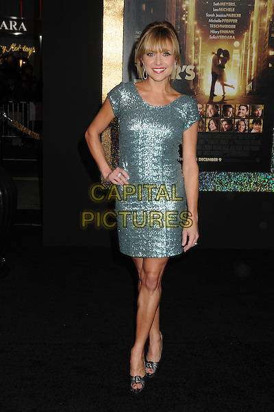 "Christine Lakin.The World Premiere of ""New Year's Eve' held at The Grauman's Chinese Theatre in Hollywood, California, USA..December 5th, 2011.full length green sparkly dress hand on hip.CAP/ADM/BP.©Byron Purvis/AdMedia/Capital Pictures."
