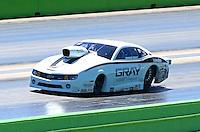 Sept. 22, 2013; Ennis, TX, USA: NHRA pro stock driver Shane Gray during the Fall Nationals at the Texas Motorplex. Mandatory Credit: Mark J. Rebilas-
