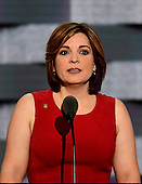 Jamie Dorff, whose husband Patrick Dorff was a US Army helicopter pilot who died in Iraq, makes remarks during the third session of the 2016 Democratic National Convention at the Wells Fargo Center in Philadelphia, Pennsylvania on Wednesday, July 27, 2016.<br /> Credit: Ron Sachs / CNP<br /> (RESTRICTION: NO New York or New Jersey Newspapers or newspapers within a 75 mile radius of New York City)