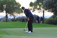 Francesco Laporta (ITA) on the 15th green during Round 4 of the Challenge Tour Grand Final 2019 at Club de Golf Alcanada, Port d'Alcúdia, Mallorca, Spain on Sunday 10th November 2019.<br /> Picture:  Thos Caffrey / Golffile<br /> <br /> All photo usage must carry mandatory copyright credit (© Golffile | Thos Caffrey)