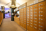 BRUSSELS - BELGIUM - 24 April 2019 -- The empty corridors of the European Parliament. Mail boxes of the MEPs, ordered alphabetically by nations. -- PHOTO: Juha ROININEN / EUP-IMAGES