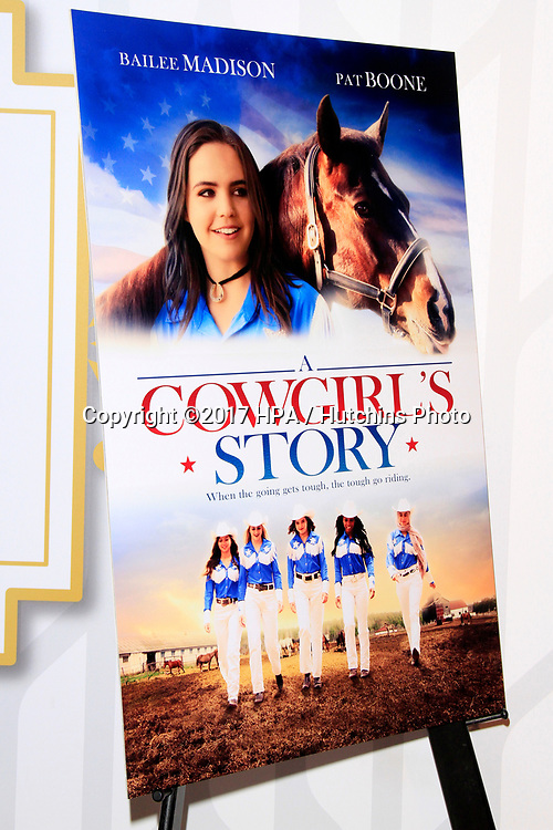 """LOS ANGELES - APR 13:  Poster of """"A Cowgirl's Story"""" at the """"A Cowgirl's Story"""" Premiere at the Pacific Theatres at The Grove on April 13, 2017 in Los Angeles, CA"""