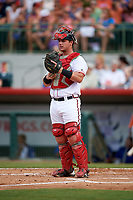Florida Fire Frogs catcher Tanner Murphy (39) during a game against the St. Lucie Mets on July 23, 2017 at Osceola County Stadium in Kissimmee, Florida.  St. Lucie defeated Florida 3-2.  (Mike Janes/Four Seam Images)
