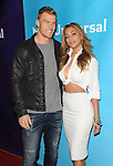 Alan Ritchson and Nicole Scherzinger arriving at NBCUniversal Summer Press Day 2015 arrivals, held at the Langham Huntington Hotel Pasadena Ca. on April 2, 2015