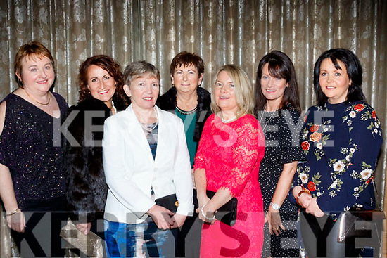 L-R Bernie Swan, Deirdre Ryle, Dolores Mannix, Marian Carroll, Helen Russel, Mary Lenin and Julia Somers at the Bon Secure Hospital, Tralee, Foundation day celebration, last Friday night in the Ballygarry House hotel, Tralee.