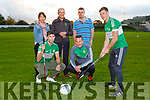 Jonathon Lyne practicing his swing for the Legion GAA golf classic which will be held on the 13th October in O'Mahonys Point Denise Fogarty, Jamie O'Sullivan, Sean Murphy, John Foran