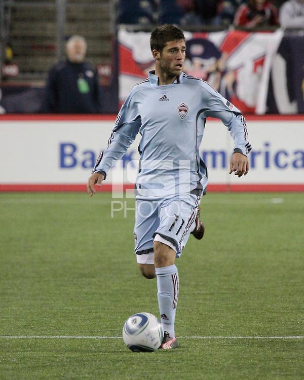 Colorado Rapids midfielder Colin Clark (11).  The Colorado Rapids defeated the New England Revolution, 2-1, at Gillette Stadium on April 24.2010