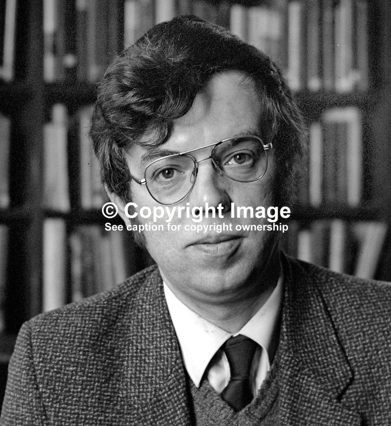 John Gray, librarian, Linenhall Library, Belfast, N Ireland, 198201006JG7<br />