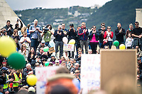 Standing room only!<br /> <br /> Around 1000 supporters attended The Hobbit Rally at Civic Square in Wellington. The rally was in aid of convincing Warner Bros that The Hobbit has the support of the people of New Zealand &amp; further afield, &amp; it should be made here &amp; not go overseas.<br /> <br /> Two days after the rally it was announced by Prime Minister John Key, that talks with Warner Bros were successful &amp; The Hobbit will be filmed in New Zealand.