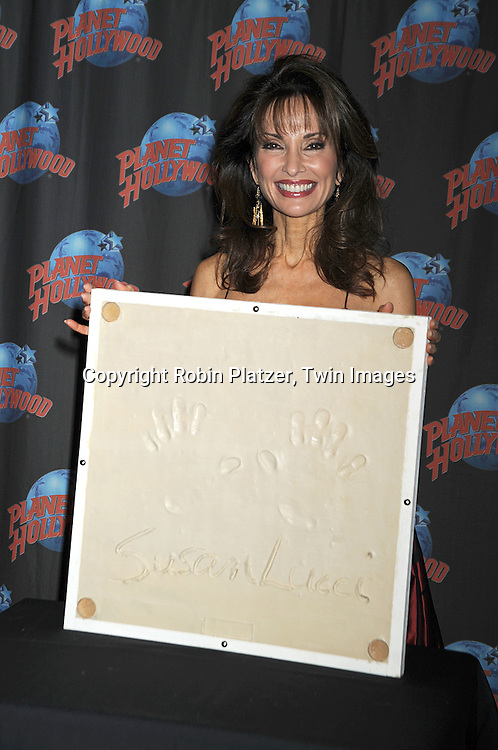 Susan Lucci at Planet Hollywood in New York City, where she celebrated her career with a handprint ceremony on December 18, 2008. ....Robin Platzer, Twin Images..............