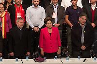 BELO HORIZONTE, MG, 30.05.2014 – ENCONTRO ESTADUAL PT MINAS GERAIS – A Presidenta Dilma Rousseff, Ex-Presidente Luiz Inacio Lula da Silva e o Ex Ministro Fernando Pimentel durante o encontro estadual PT em Minas Gerais, no Centro de Convenções Minas Centro em Belo Horizonte, na noite desta Sexta (30) (Foto: MARCOS FIALHO / BRAZIL PHOTO PRESS)